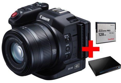 Canon XC10 (4K) kompakt videokamera - CFast 128GB - KIT + ajándék*