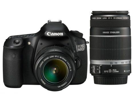Canon EOS 60D + EF-S 18-55mm / 3.5-5.6 IS + EF-S 55-250mm / 4.0-5.6 IS II