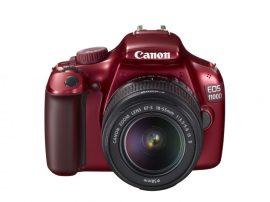Canon EOS 1100D + EF-S 18-55mm / 3.5-5.6 IS II (4 színben) (piros)