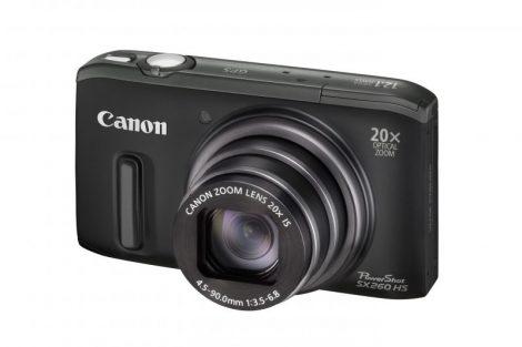 Canon PowerShot SX260HS (GPS) (4 színben) (fekete)