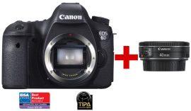 Canon EOS 6D váz + EF 40mm / 2.8 STM (3 év garanciával**)