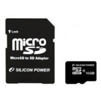Silicon Power micro SDHC 16Gb (class 10)