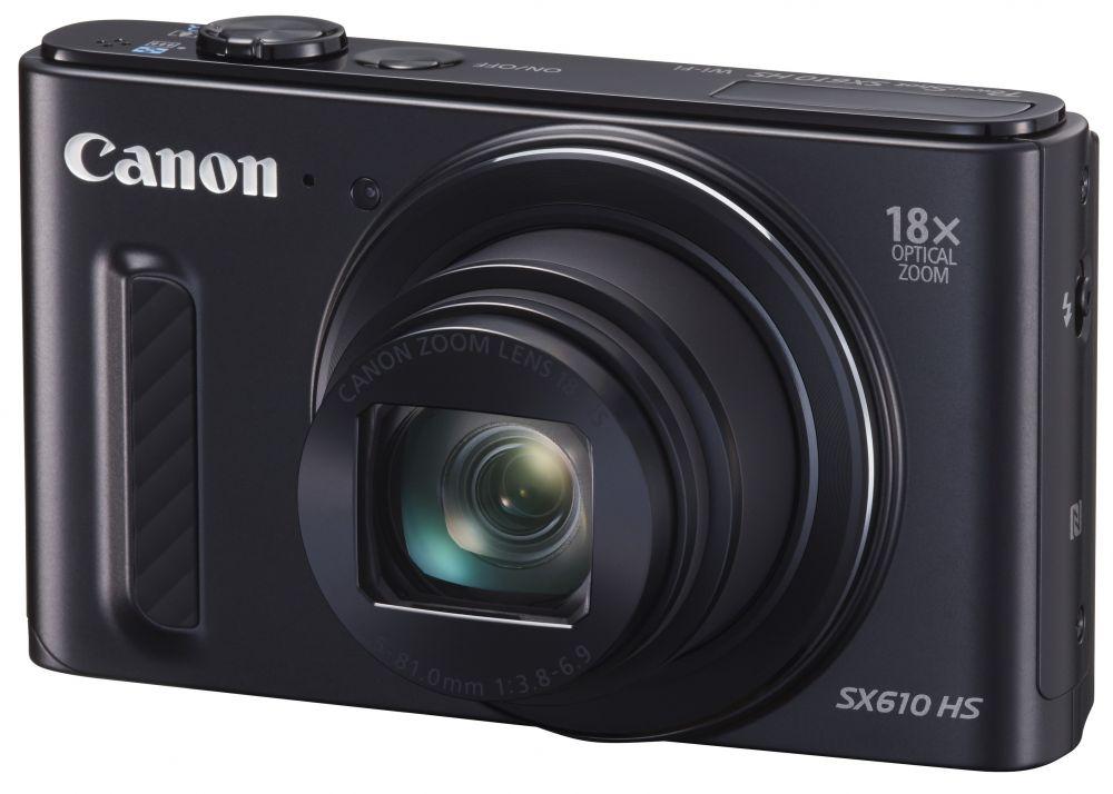 Canon PowerShot SX610HS (3 színben) (fekete) (WiFi + NFC)