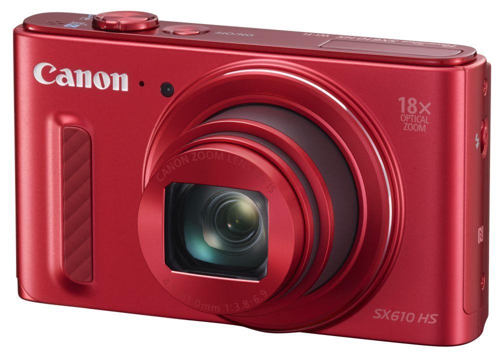 Canon PowerShot SX610HS (3 színben) (piros) (WiFi + NFC)
