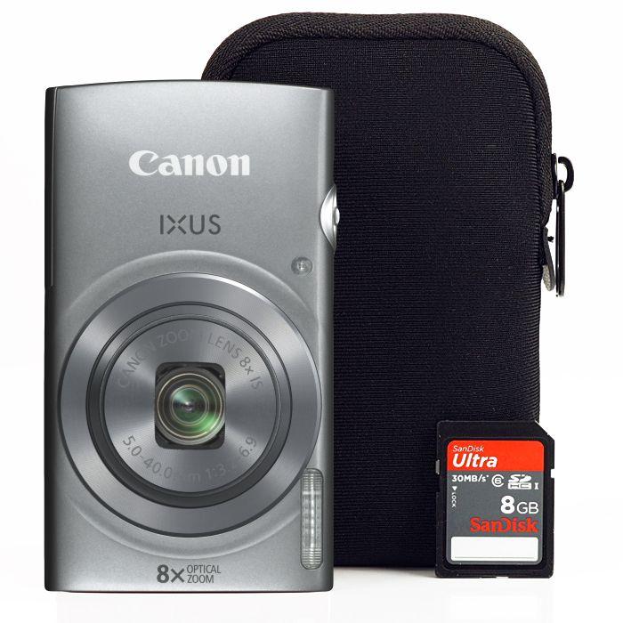Canon Ixus 165 Essentials kit (2 színben) (ezüst)