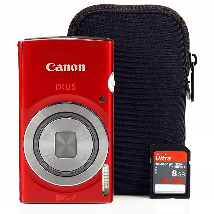 Canon Ixus 165 Essentials kit (2 színben) (piros)
