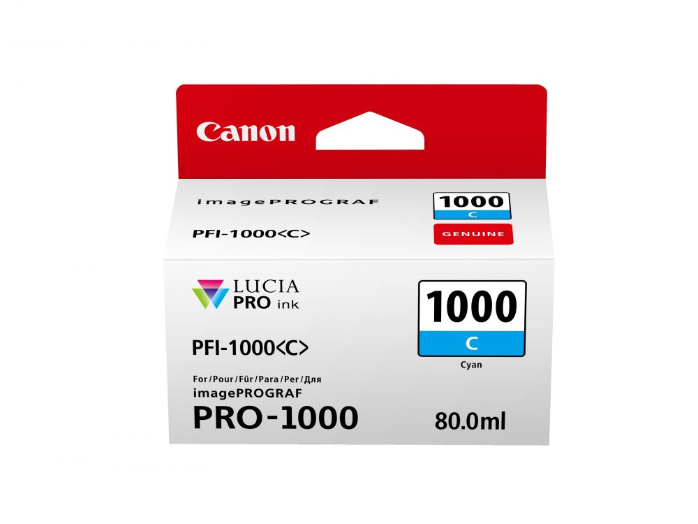 Canon PFI-1000C cián tintapatron