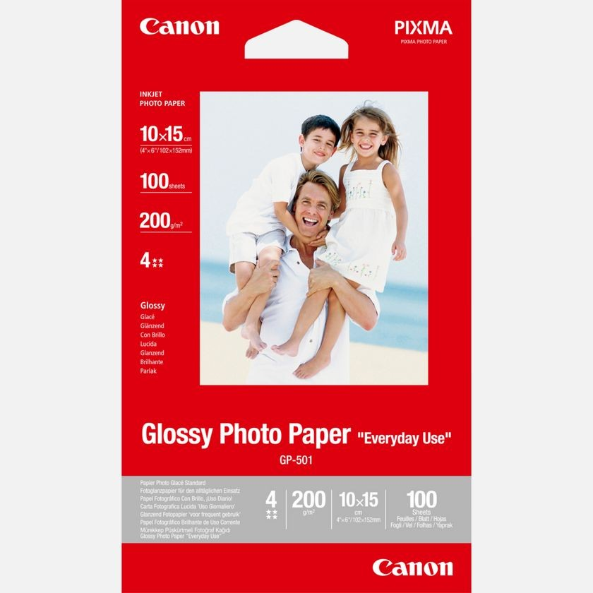 "Canon Glossy Photo Paper GP-501 ""Everyday Use"" (10x15)"