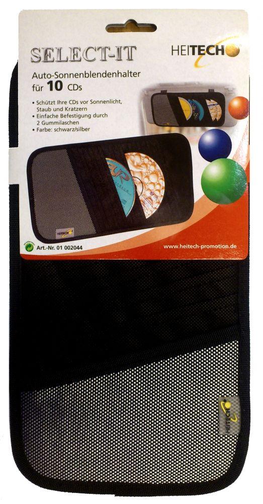 Heitech napellenzős CD tartó (10 db-os)