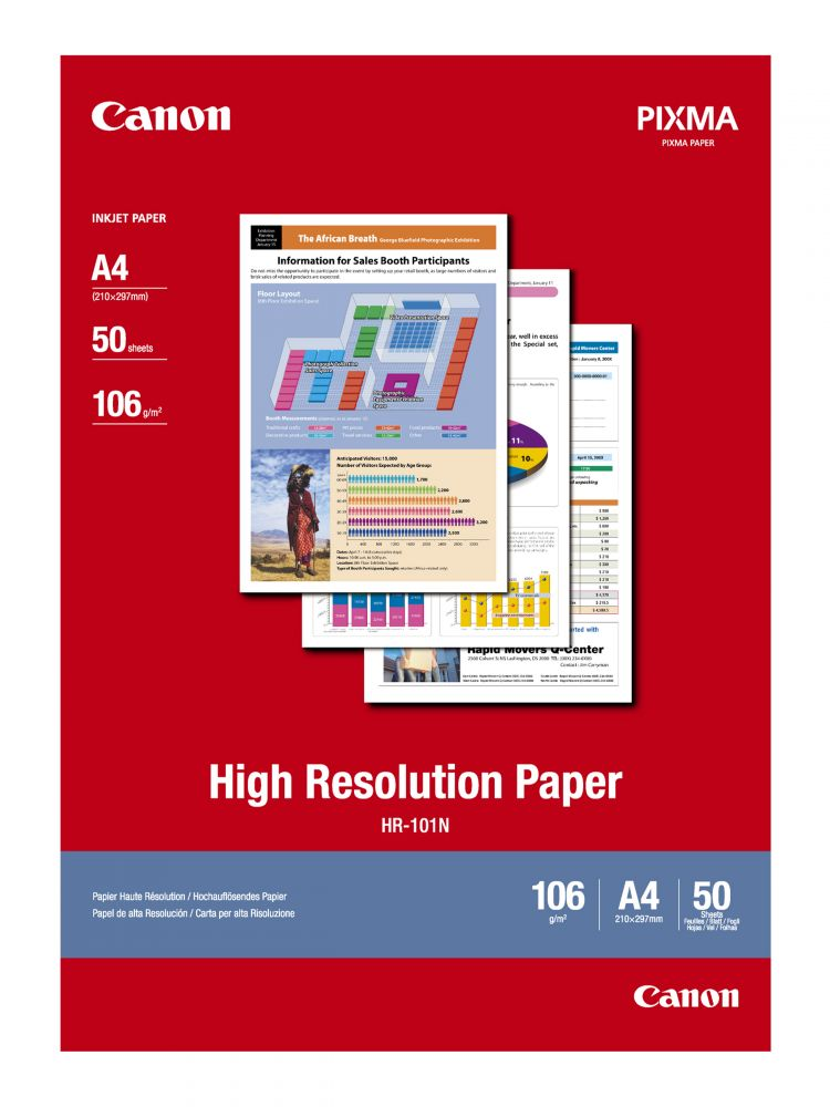 Canon High Resolution Paper HR-101N (A4) (50 lap)