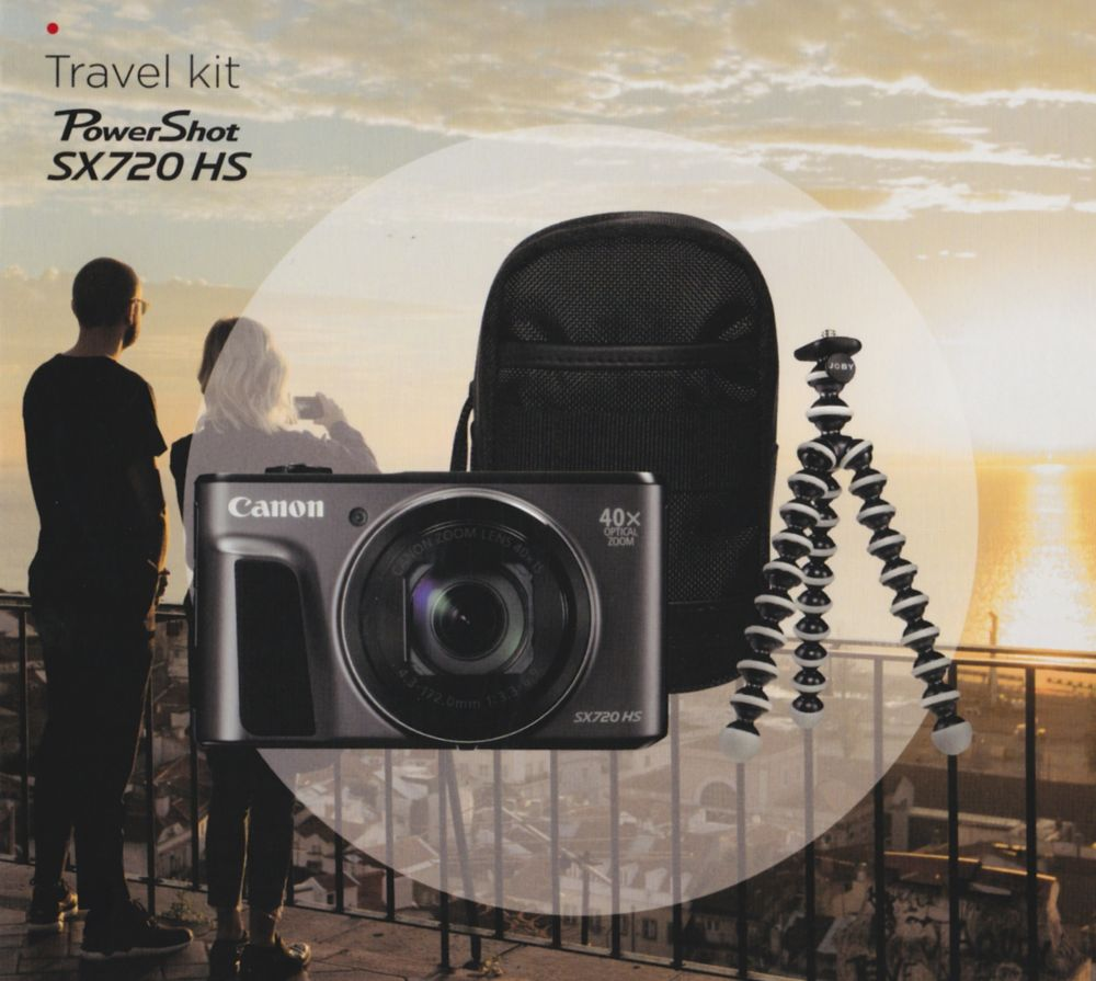 Canon PowerShot SX720HS Travel kit (fekete)