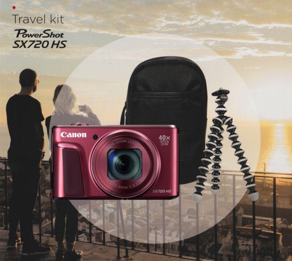 Canon PowerShot SX720HS Travel kit (piros)