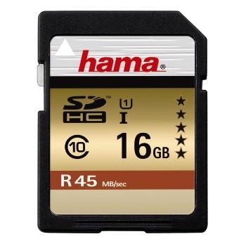 HAMA SDHC 16GB GOLD (class 10) (UHS-I)