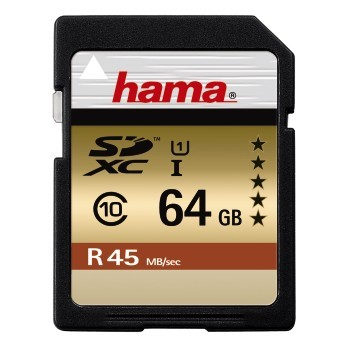 HAMA SDXC 64GB GOLD (class 10) (UHS-I)