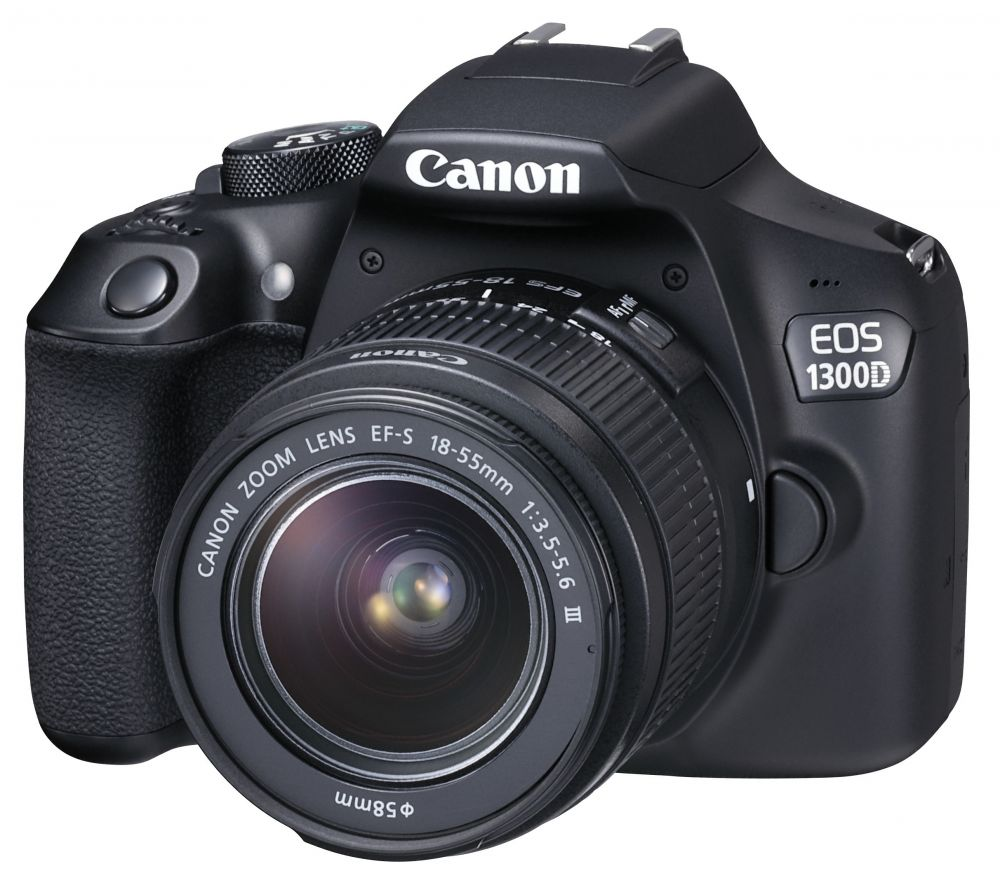 Canon EOS 1300D + EF-S 18–55mm / 3.5–5.6 III (1+2 év Garancia*)