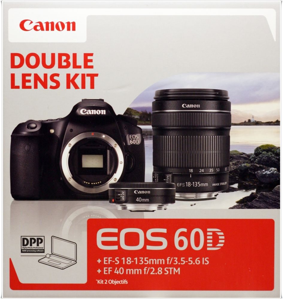 Canon EOS 60D + EF-S 18-135mm / 3.5-5.6 IS + EF 40mm / 2.8 STM