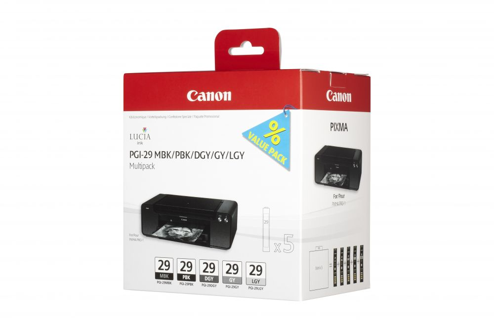 Canon PGI-29 MBK/PBK/DGY/GY/LGY