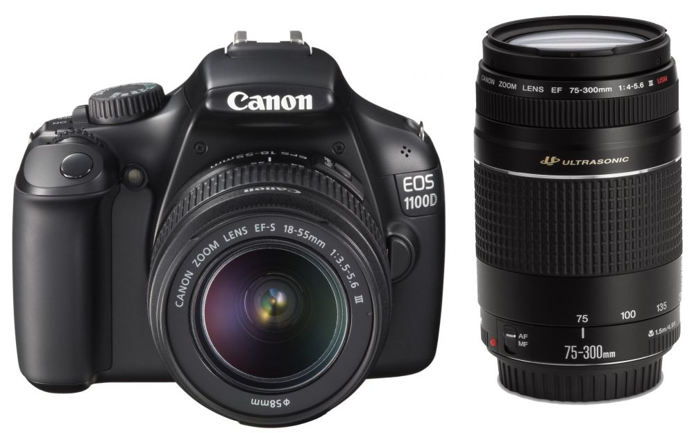 Canon EOS 1100D + EF-S 18-55mm / 3,5-5,6 III + EF 75-300 / 4-5,6 III KIT