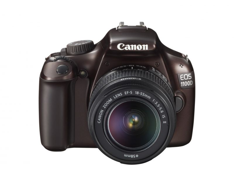 Canon EOS 1100D + EF-S 18-55mm / 3.5-5.6 IS II (4 színben) (barna)