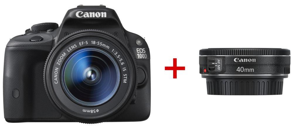 Canon EOS 100D + EF-S 18-55mm / 3.5-5.6 IS STM + EF 40mm / 2.8 STM (3 év Garanciával**)