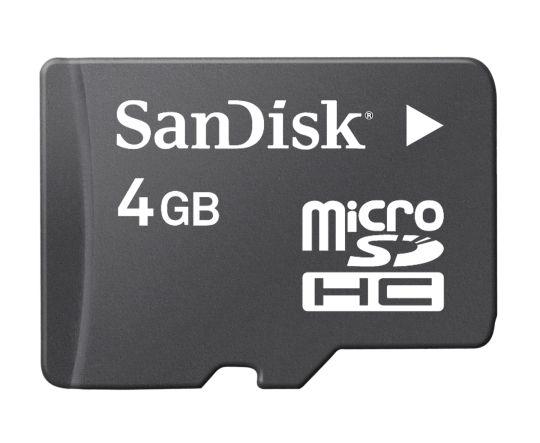 SanDisk micro SDHC 4Gb (class 4)