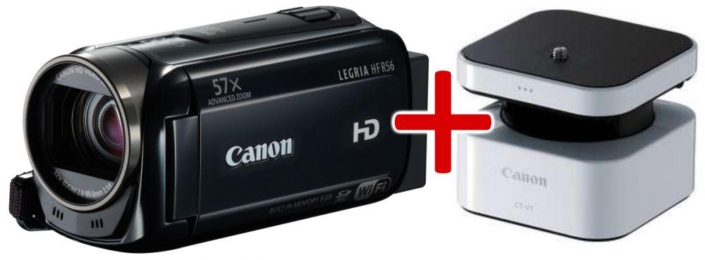 Canon LEGRIA HF R56 (Wi-Fi) (fekete) + CT-V1 panorámakamera-állvány