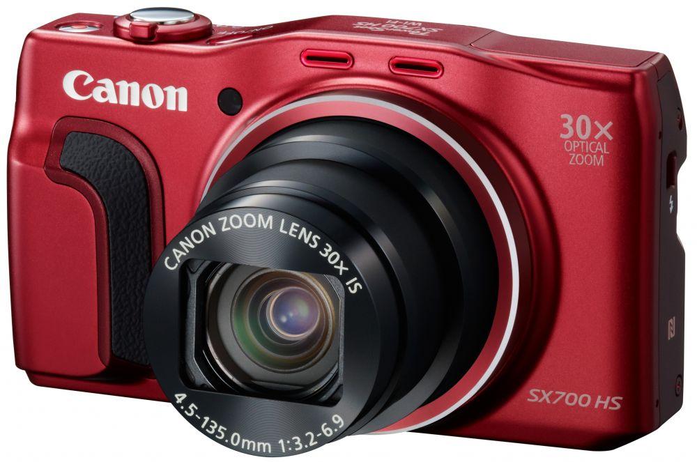 Canon PowerShot SX700HS (Wi-Fi+NFC) (2 színben) (piros)