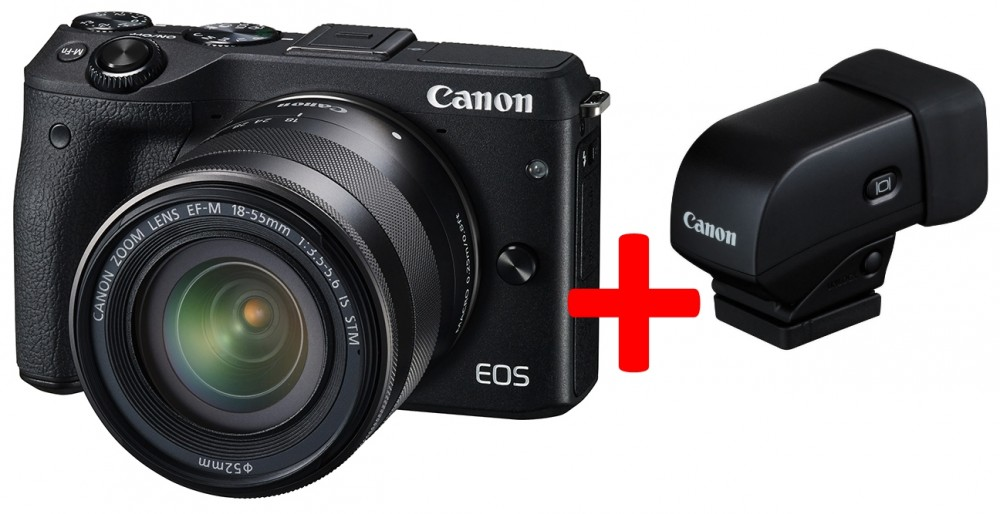 Canon EOS M3 + EF-M 18-55mm / 3.5-5.6 IS STM Viewfinder KIT