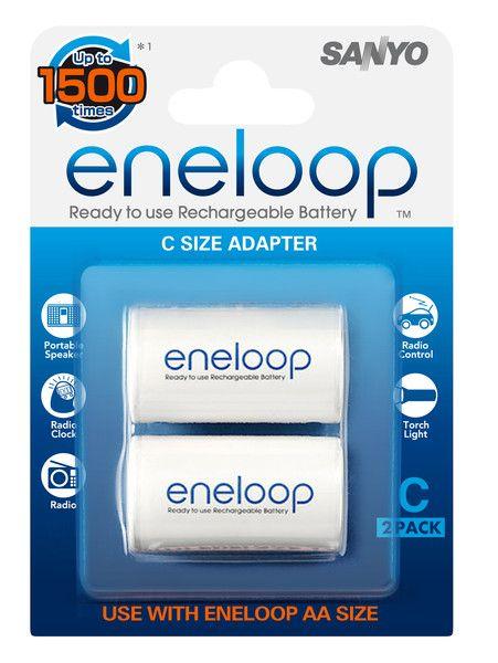 Sanyo eneloop C size adapter