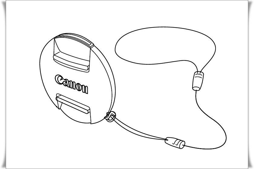 Canon PowerShot objektív sapka