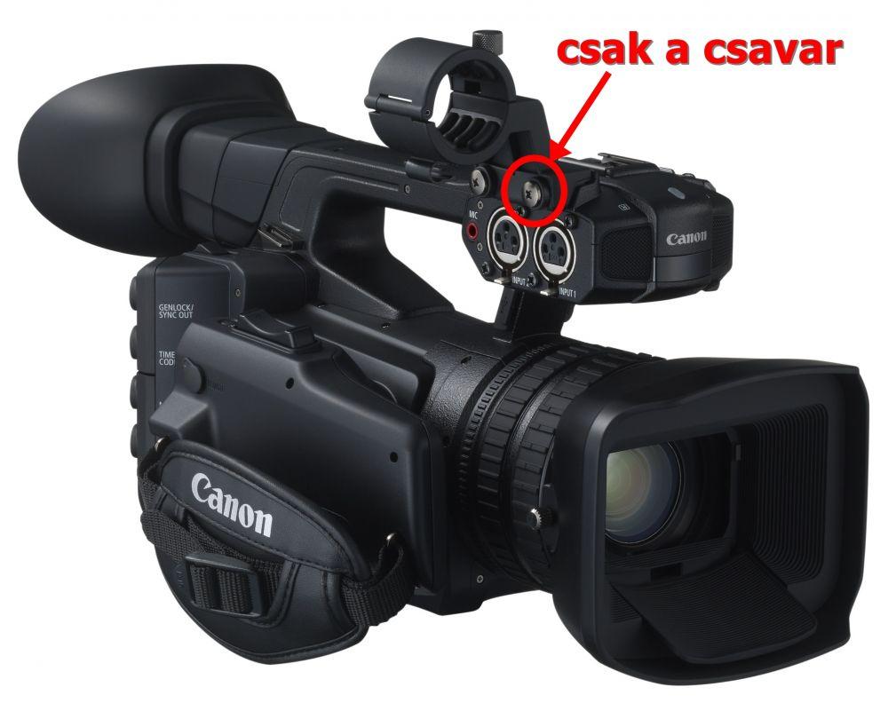 Canon külső mikrofon tartó csavar