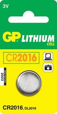 GP CR 2016 3V lítium elem