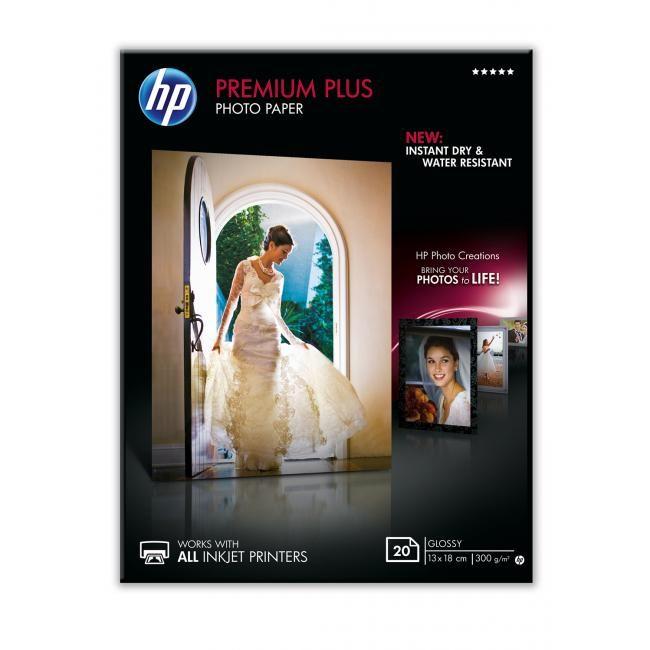 HP Premium Plus fotópapír 13x18cm, 20db