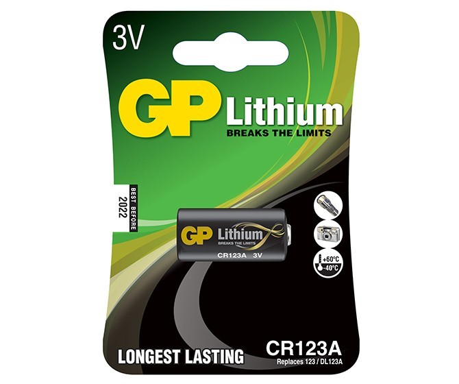GP CR123A fotoelem 3V