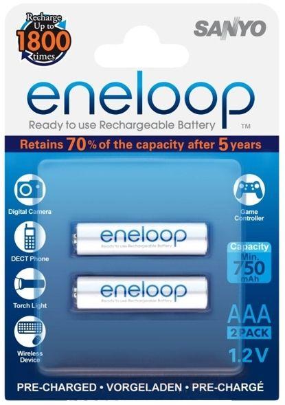 Sanyo eneloop 2db AAA akkumulátor