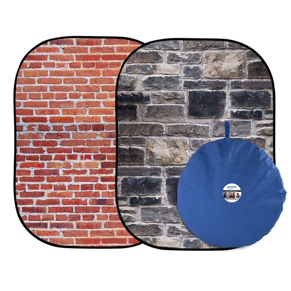 Lastolite összecsukható háttér 1.5 x 2.1m - Red Brick/Grey Stone