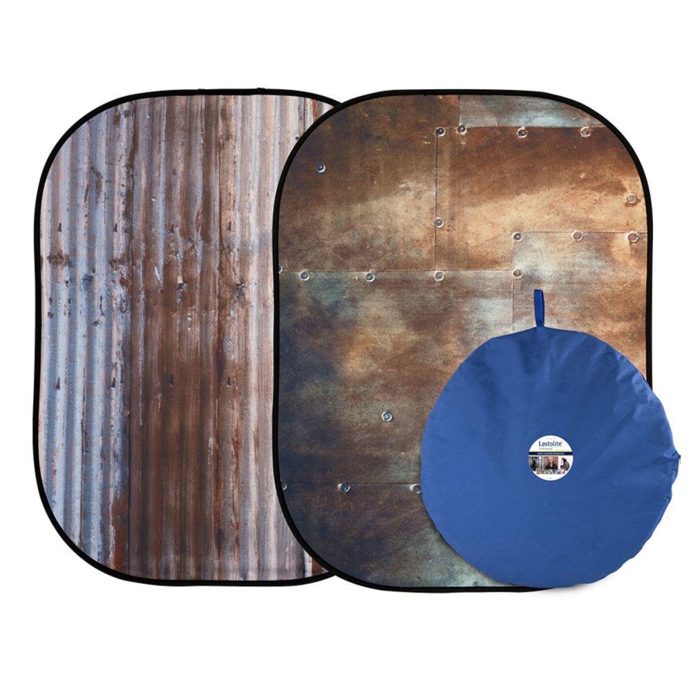 Lastolite összecsukható háttér 1.5 x 2.1m - Corrugated/Metal