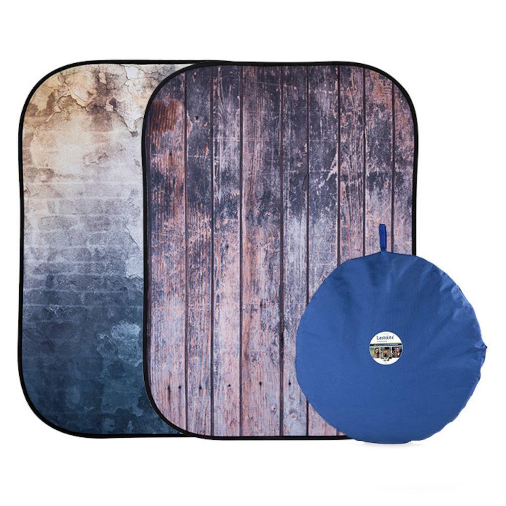 Lastolite összecsukható háttér 1.5 x 2.1m - Wall/ Wooden Fence