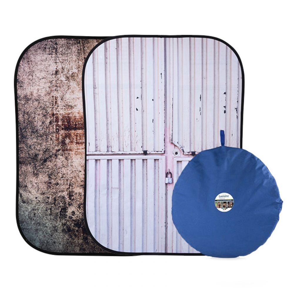 Lastolite összecsukható háttér 1.5 x 2.1m - Tarnished Metal/Container