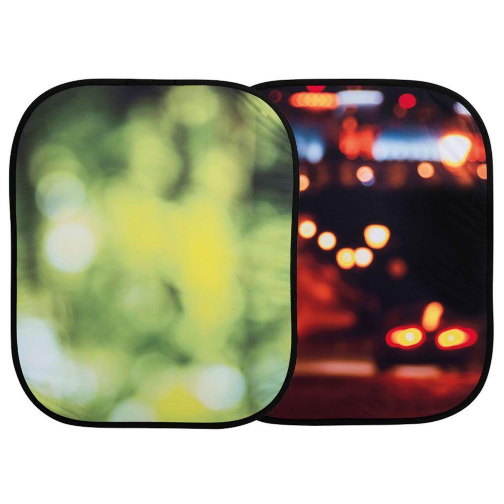 Lastolite összecsukható háttér 1.2 x 1.5m - Summer Foliage/City Lights