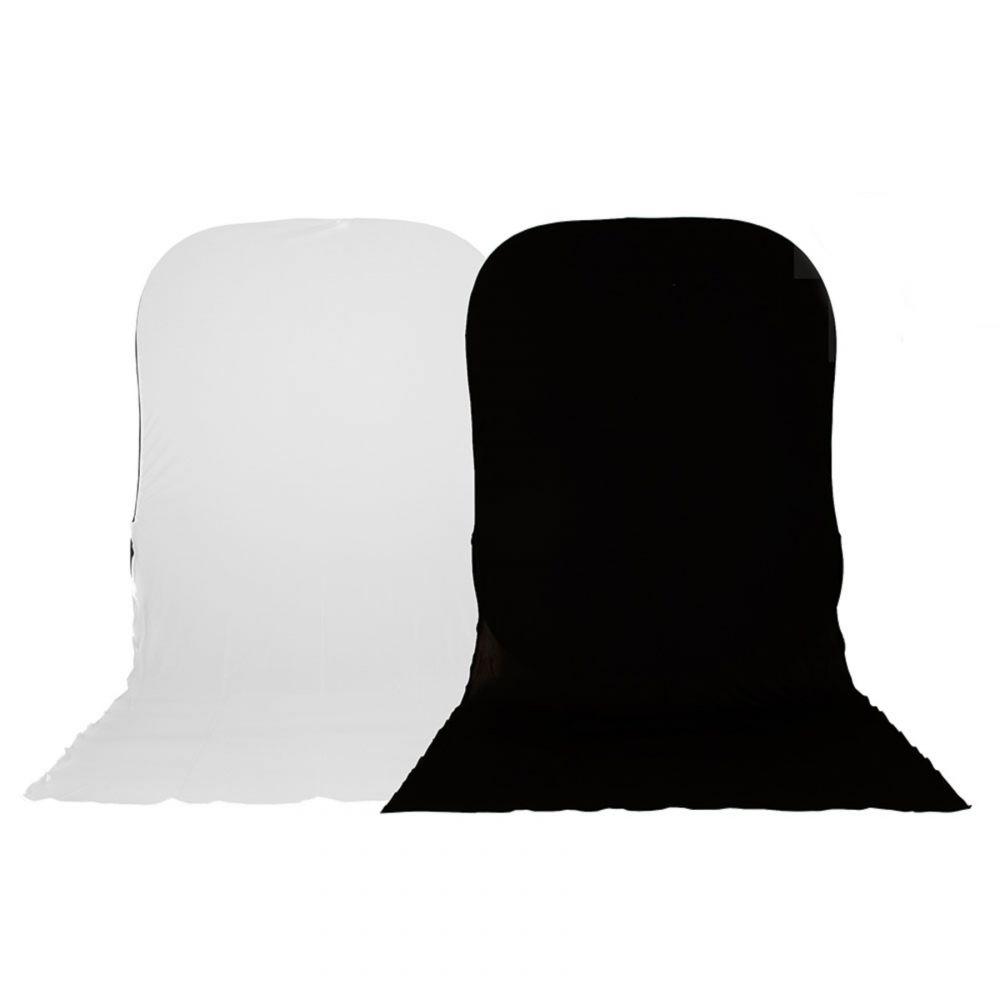 Lastolite összecsukható háttér hosszabbító 1.8 x 2.15m - fekete/fehér