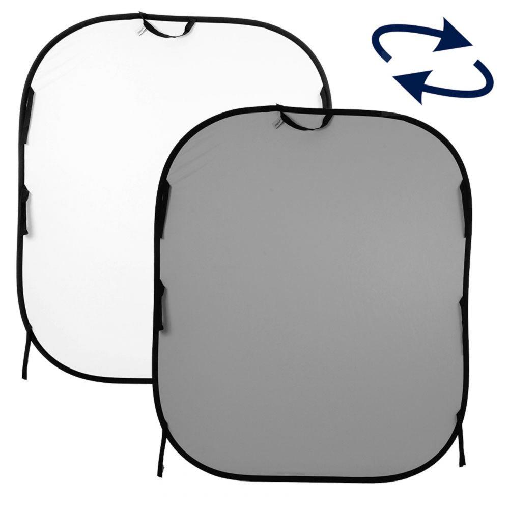 Lastolite összecsukható háttér 1.8 x 2.15m - szürke/fehér