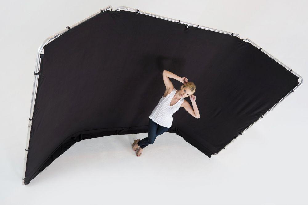 Lastolite fekete panoráma háttér, tartókerettel - 4m
