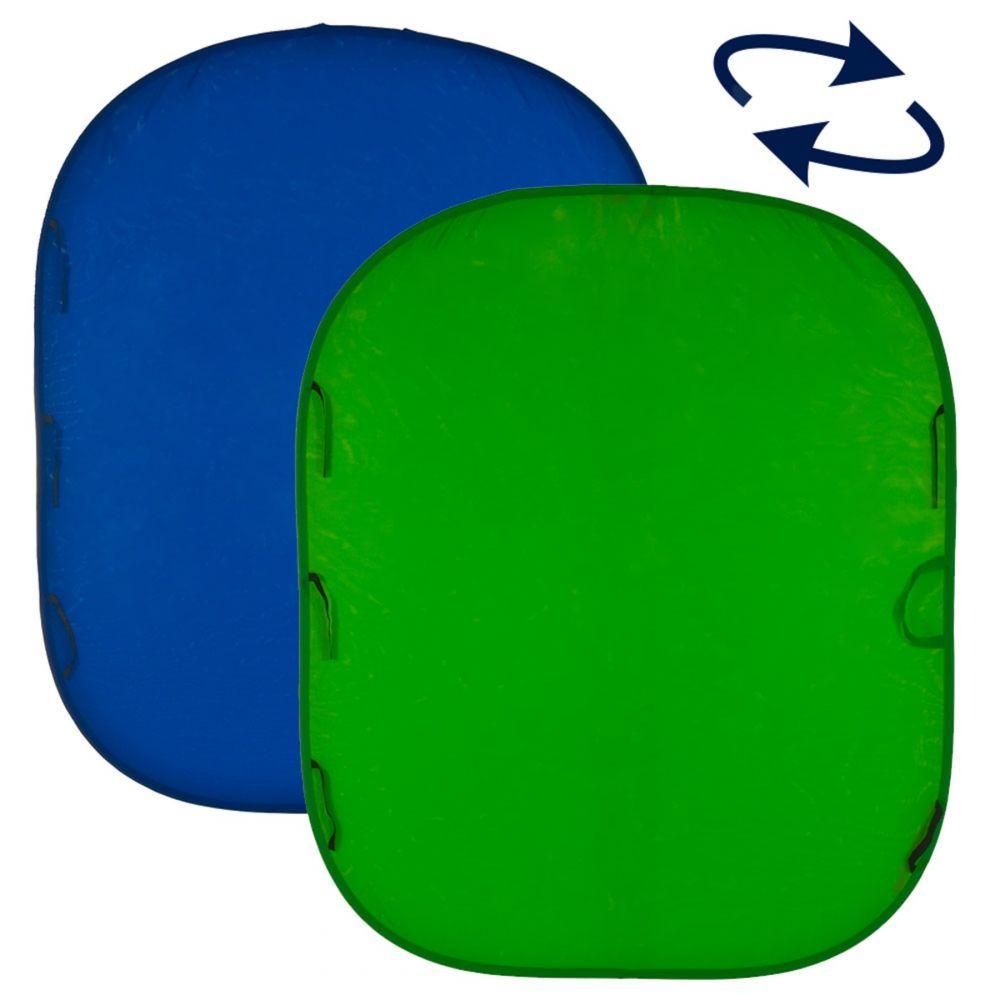 Lastolite összecsukható háttér 1.5 x 1.8m - chroma zöld/kék