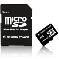 Silicon Power micro SDHC 8Gb (class 4)