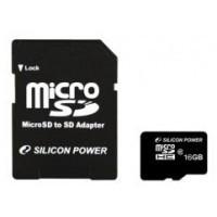Silicon Power micro SDHC 16Gb (class 10)