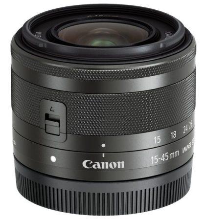 Canon EF-M 15-45mm /3.5-6.3 IS STM - grafit színű