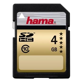 HAMA SDHC KÁRTYA GOLD 4GB (class 10)