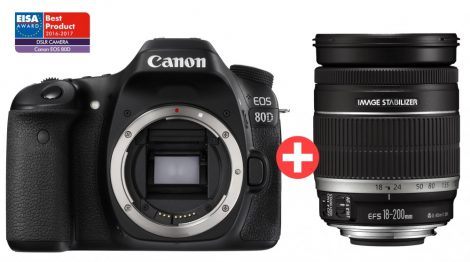 Canon EOS 80D 1+2 év garanciával** + EF-S 18-200/3.5-5.6 IS