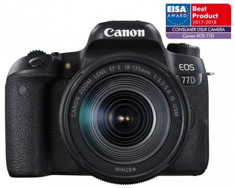 Canon EOS 77D 1+2 év garanciával** + EF-S 18-135/3.5-5.6 IS nano USM